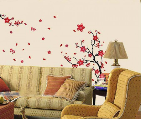 Modern Blossom Flower Wall Decal