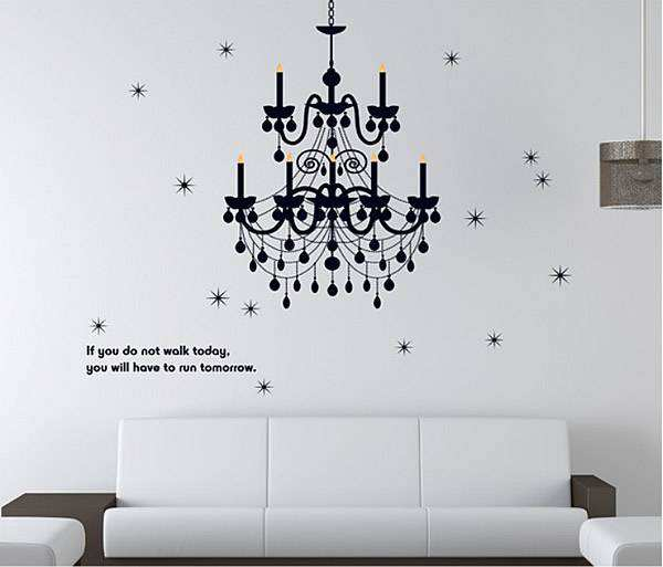Wall decal chandelier home decor lounge 2 for 20 wall 2 for 20 mozeypictures Gallery