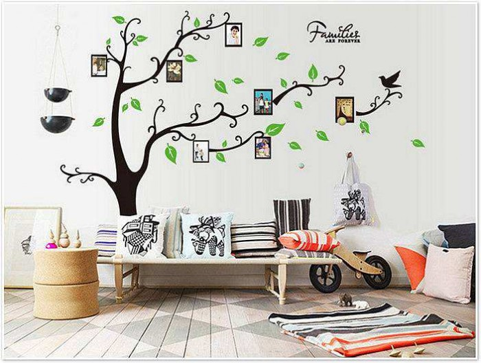 large photo frame tree removable wall stickers | wall decals