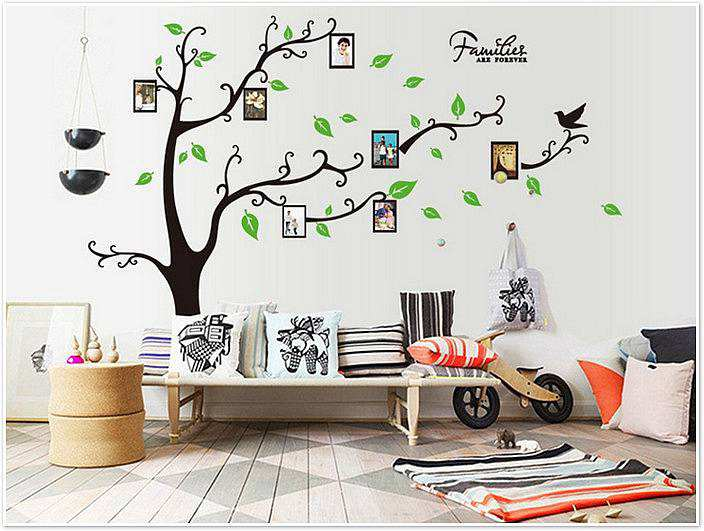 Picture Frame Wall Decals large photo frame tree removable wall stickers | wall decals