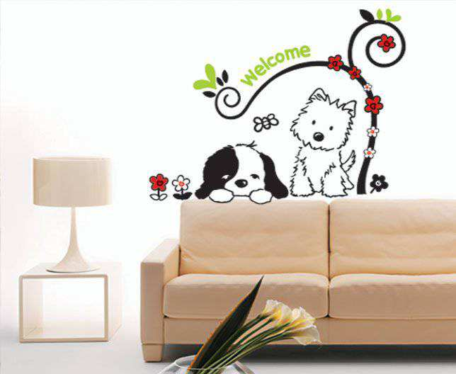 Merveilleux ... Dog Welcome Wall Stickers. 2 For U20ac20. ; 