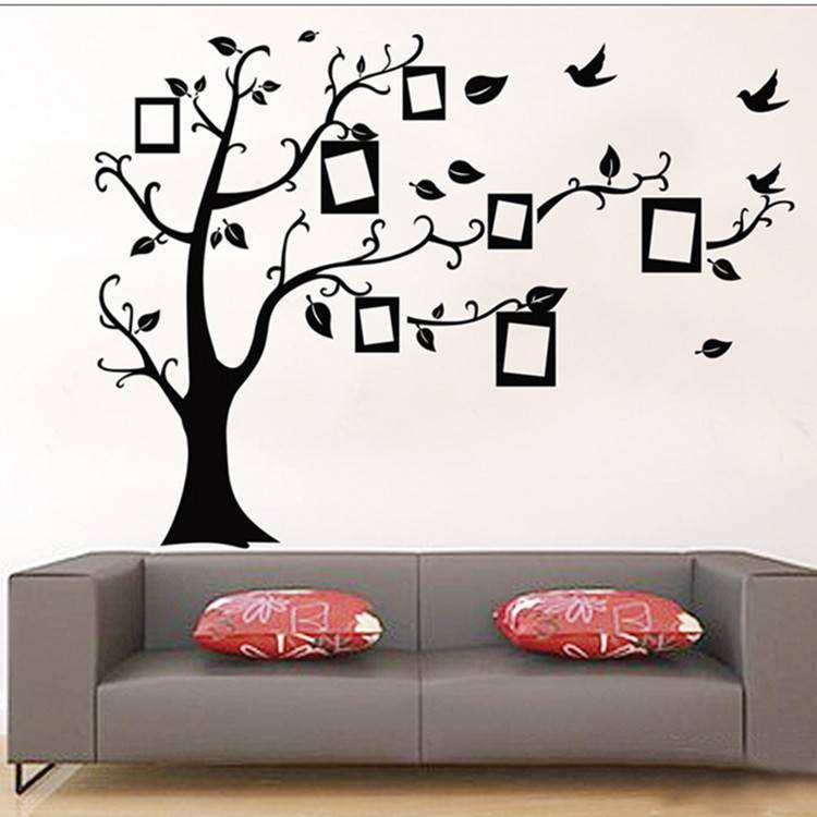 photo frame tree family quote branches wall decal | wall stickers