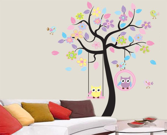 Kids Colorful Tree Wall Sticker Part 42