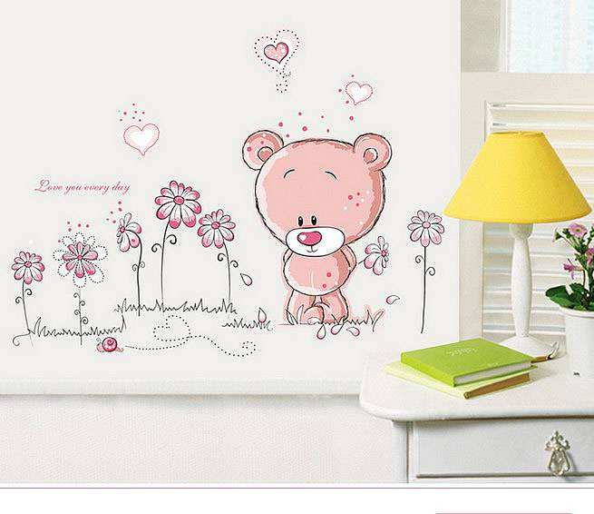 Teddy Bear Children Wall Stickers