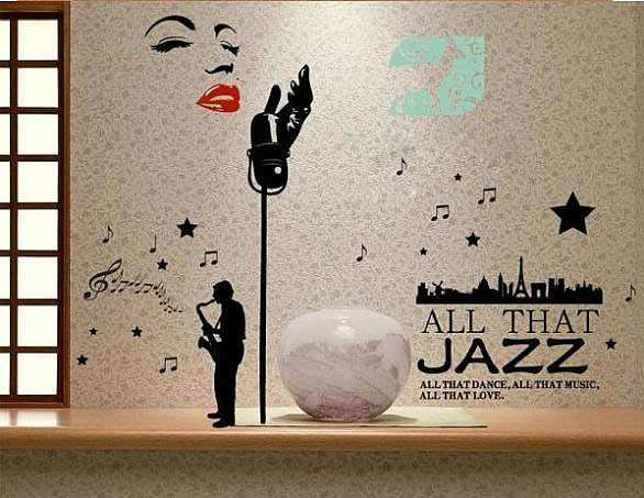 Jazz Home Decor Wall Decal