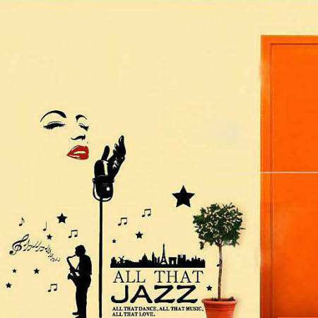 All That Jazz Home Decor Wall Decal