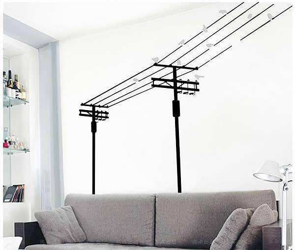 birds on the wire home decor wall decal | bedroom | wall stickers