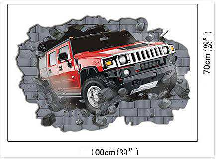 Home/Boys Room/Breakthrough Car Wall Stickers. ; 