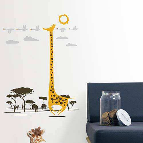 lovely supernatural giraffe wall stickers | animals | lounge | wall