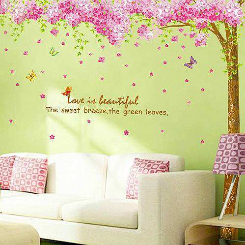 Elegant ... Cherry Blossom Flower Tree Wall Stickers. ;  Part 14