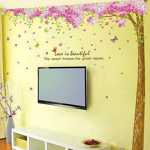 ... Cherry Blossom Flower Tree Wall Stickers. ; 