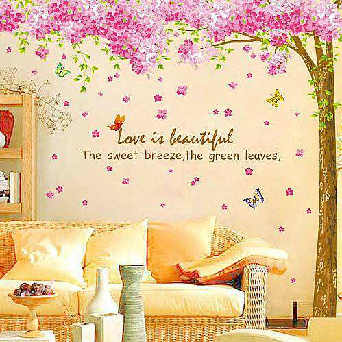 ... Cherry Blossom Flower Tree Wall Stickers. ;  Part 52