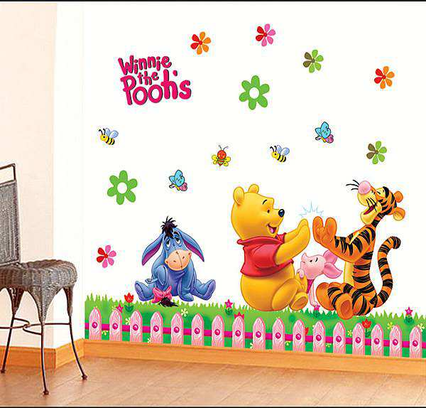 2f928b46f89 Nursery Winnie The Pooh Party Wall Decals