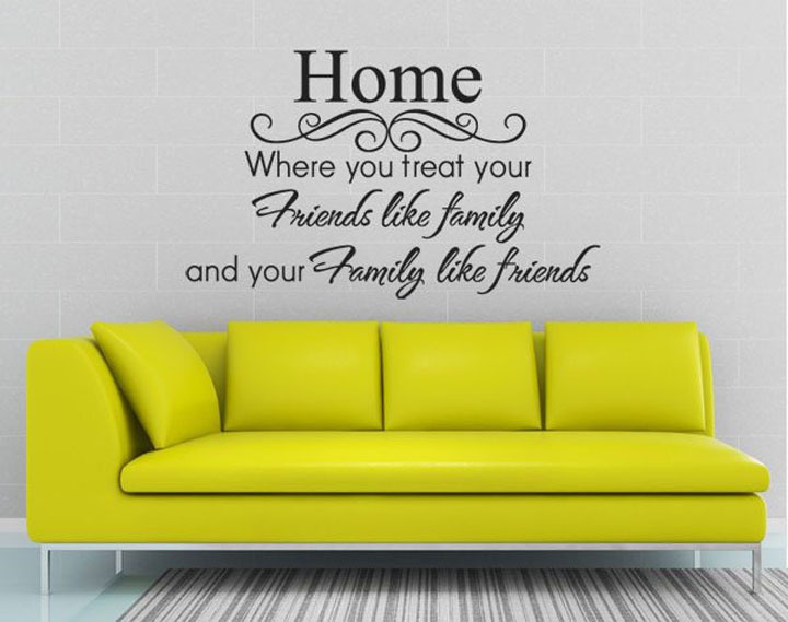 Friends Like Family Wall Quote Sticker