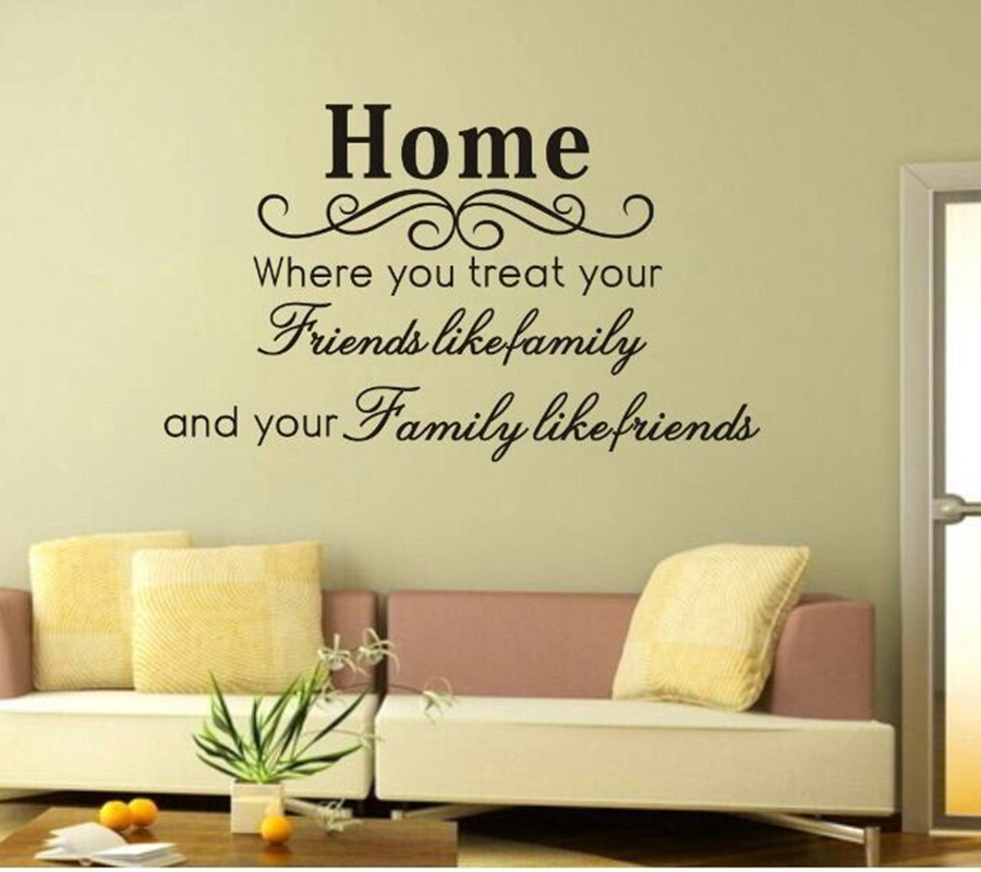 Friends Like Family Wall Quote Sticker Quotes Wall Decals