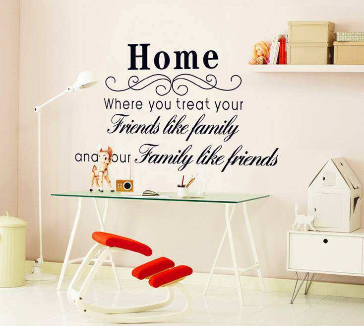 Wonderful ... Wall Quotes/Wall Art Quote Friends Like Family Sticker. ;  Part 19
