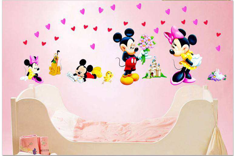 ... Mickey Mouse Love Minnie Wall Stickers. 2 For U20ac20. ;  Idea