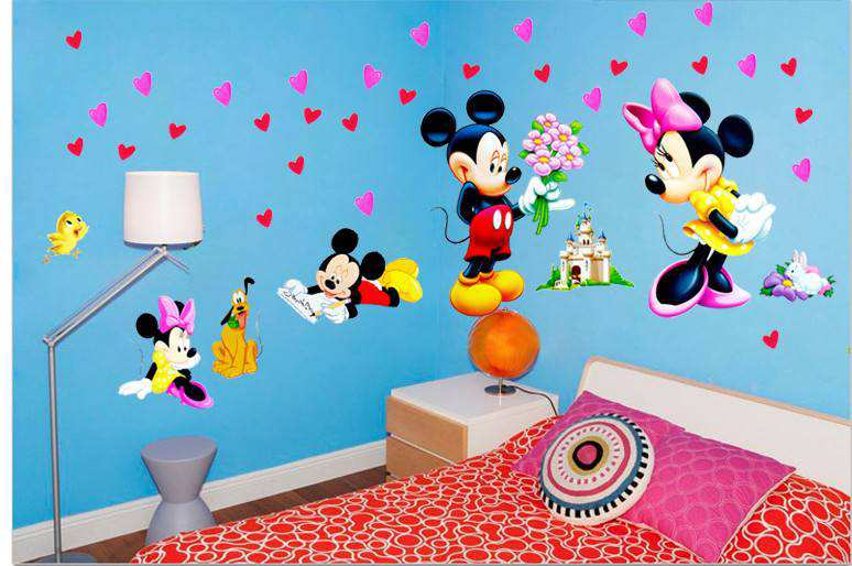 ... Mickey Mouse Love Minnie Wall Stickers. 2 For U20ac20. ;  Part 69