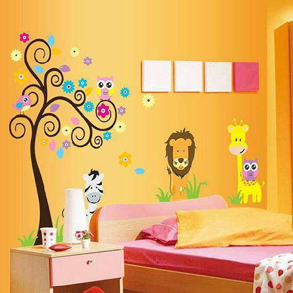 Animal Owl Lion Wall Art Sticker | Animals | Nursery | Wall Decals