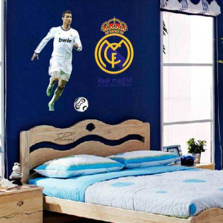 Cristiano Ronaldo Real Madrid Football Player Wall Art Sticker. WWE Wrestling John Cena Wall Sticker Decals   Characters   Boys Room