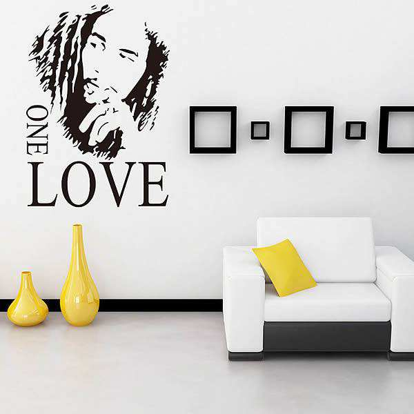 bob marley one love quote wall decal | quotes | wall stickers