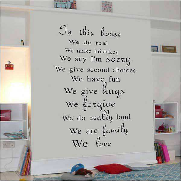 House Rules Quotes Wall Decal Art Sticker Quotes Wall Decals - House rules wall decals
