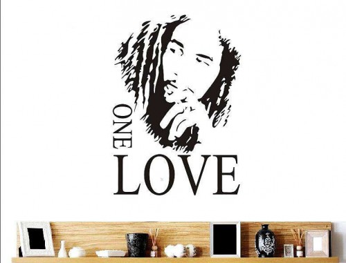 Bob Marley One Love Quote Wall Decal Quotes Stickersrhwalldecalsie: Bob Marley Home Decor At Home Improvement Advice