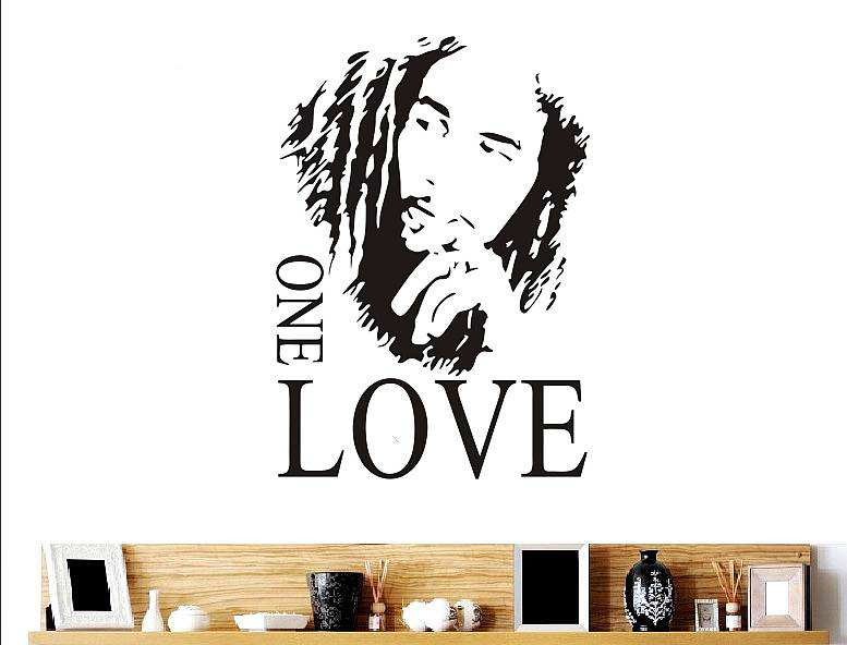 Bob Marley One Love Quote Wall Decal Quotes Wall Stickers - Wall decals love