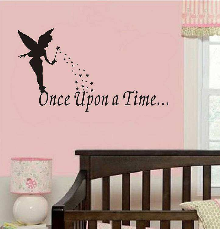 Fairy Wall Art once upon a time fairy wall sticker | quotes | wall decals