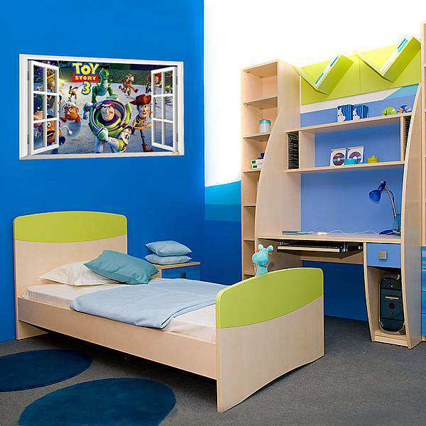 3d window scenery-toy story 3 wall decal sticker | wall stickers