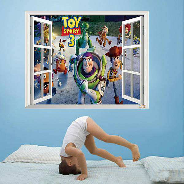 3D Window Scenery Toy Story 3 Wall Decal Sticker Part 19