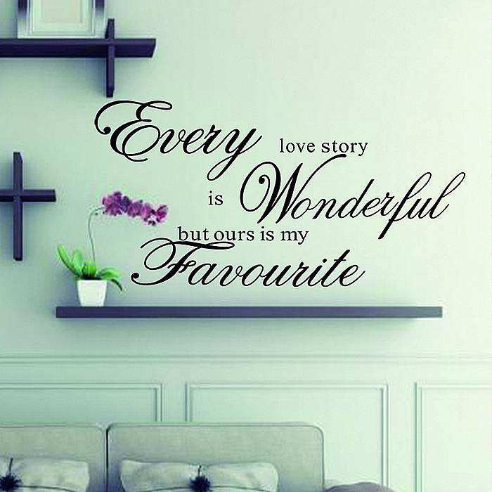 Every Love Story Is Beautiful Quotes Wall Stickers Wall Decals