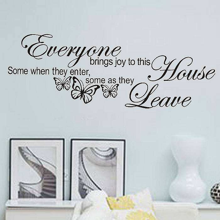 ... House Quotes Saying Wall Sticker Decal. ;  Part 54