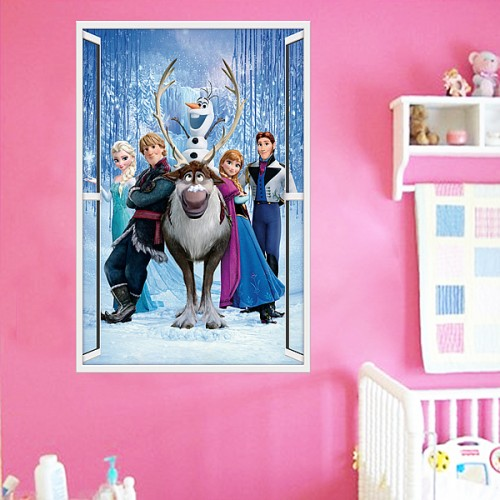 Frozen Queen 3d Window Wall Sticker
