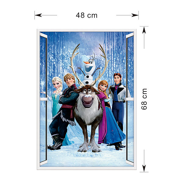 Frozen Queen 3d Window Wall Sticker Art