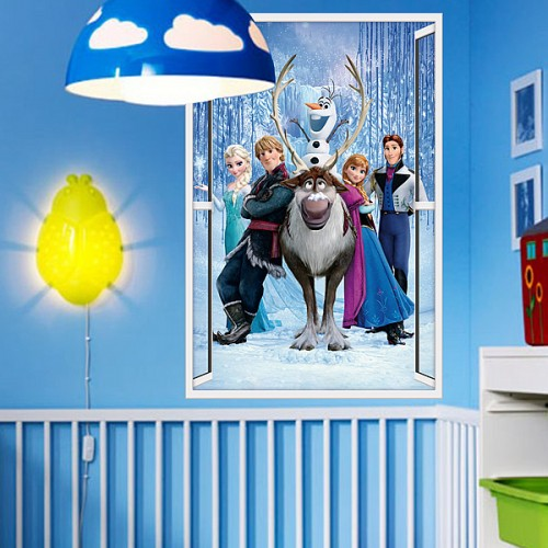 Frozen Queen 3d Window Wall Sticker Art Decal