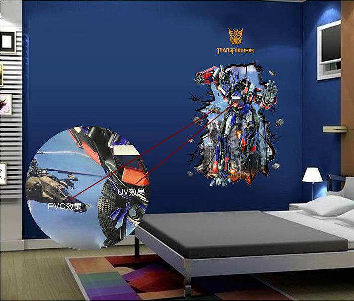 Home/Boys Room/3D Transformer Wall Sticker. ;  Part 67