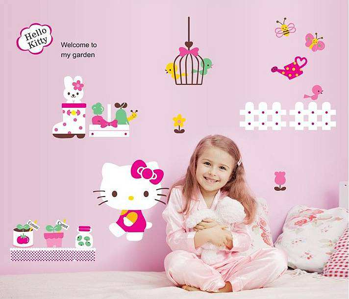 Hello Kitty Wall Sticker Art Removable Vinyl Decals Mural