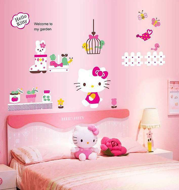 ... are here: Home » Shop » Bedroom » Hello Kitty Wall Sticker Decal