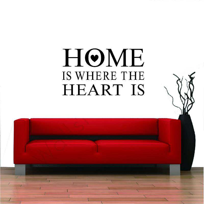 Home Is Where The Heart Is Quotes Wall Quotes Sticker Decal Wall