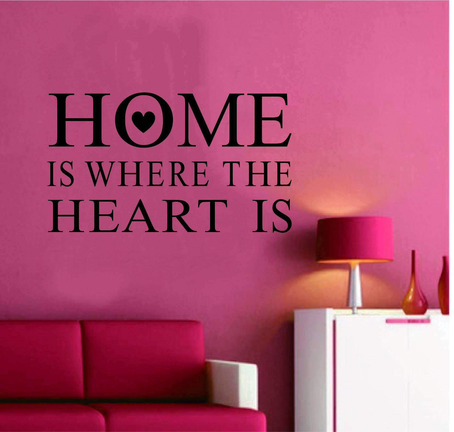Home Is Where The Heart Is Quote Home Is Where The Heart Is Quotes Wall Quotes Sticker Decal  Wall