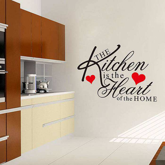 Kitchen Heart Removable Wall Stickers Quotes Wall Decals