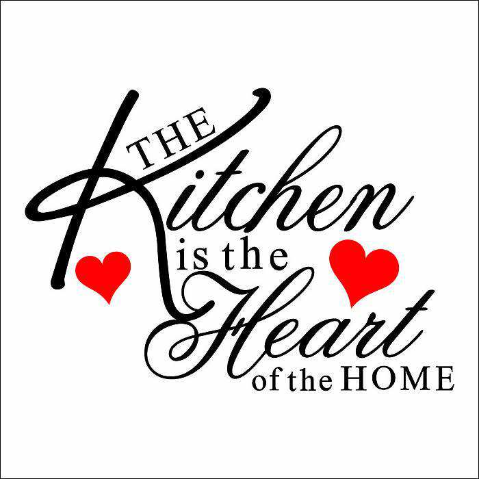 kitchen heart removable wall stickers | quotes | wall decals