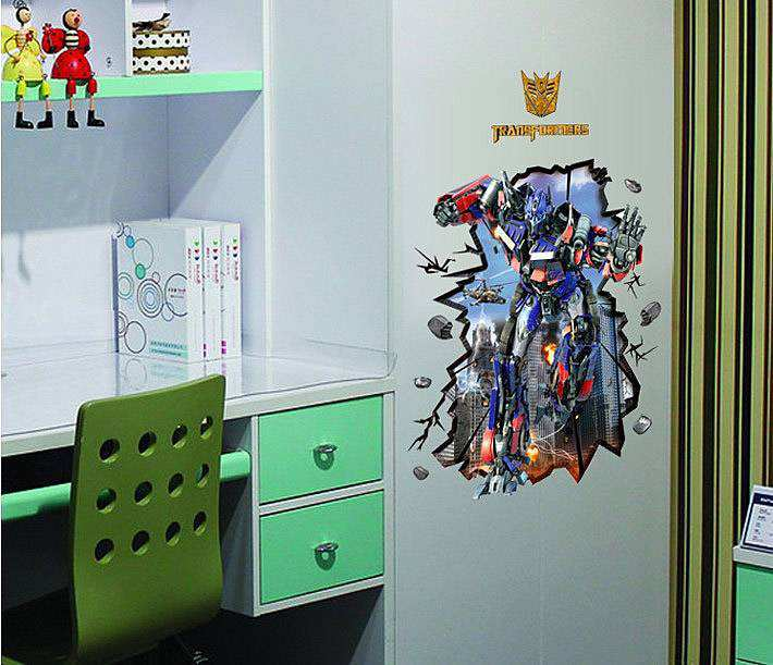 3D Transformer Wall Sticker