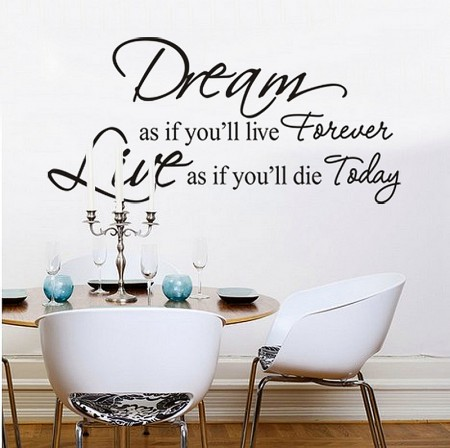 Dream As If You Will Live Forever Quote Art