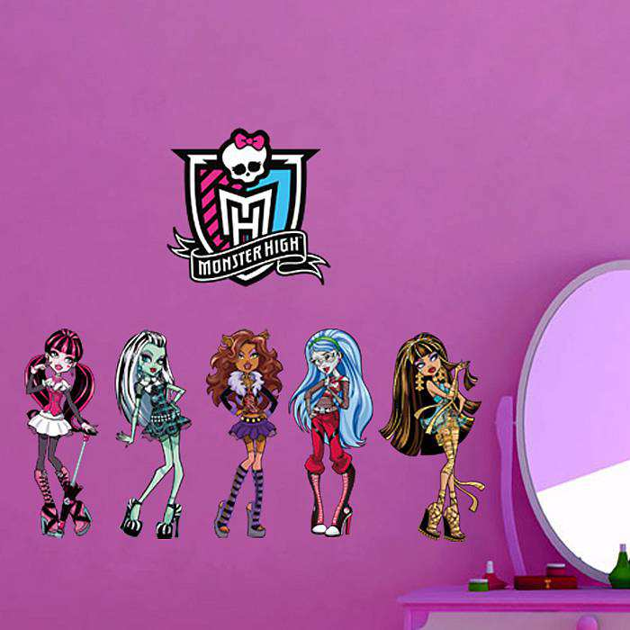 Monster High Wall Decor monster high wall sticker art decal | girls room | wall decals