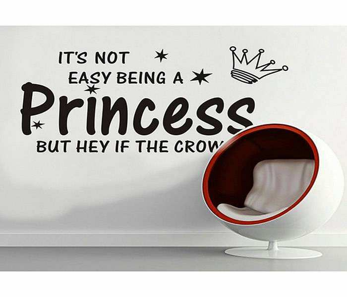 Its not easy being princess Wall Quotes
