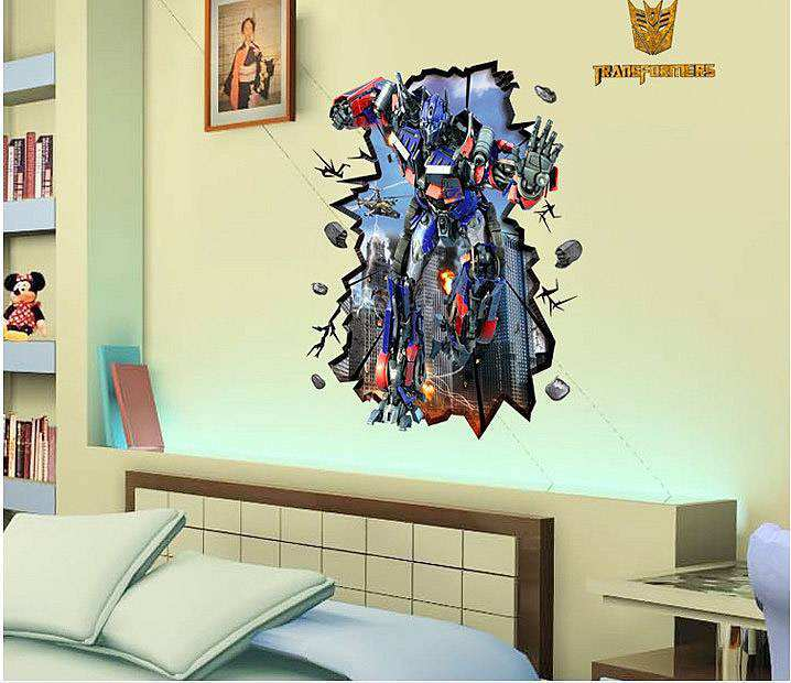 3D Transformer Wall Sticker | Boys Room | Wall Decals Part 79