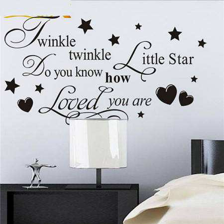 twinkle twinkle little star saying quotes wall stickers twinkle twinkle little star wall sticker