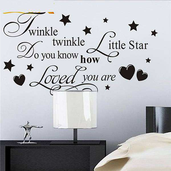 ... Twinkle Little Star Saying Quotes Wall Stickers. ;  Part 8